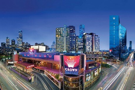 The beautiful Crown Casino, Melbourne