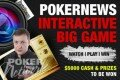 Join the Big Game V Interactive Live Stream to share in $5,000 worth of freerolls and prizes!