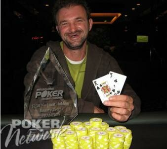 Petar Vujic Celebrates His Victory in the Bounty Event