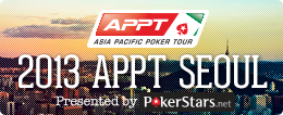 2013 PokerStars.net APPT Seoul